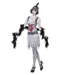 halloween costume flapper zombie flapper costume for women horor costume in charleston