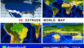 3d map generator free after effects project videohive free