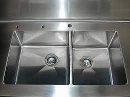 stainless steel countertop with built in sink stainless steel sinks brooks custom