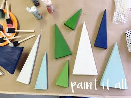 mini wood christmas tree craft bower power