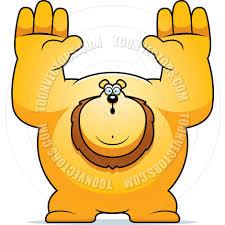 cartoon lion surrender by cory thoman toon vectors eps 13392