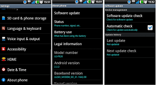 update android os android os on tablet or phone