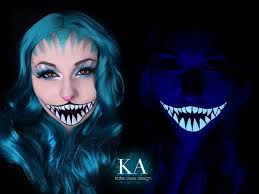 cheshire cat halloween makeup black light cheshire cat makeup w tutorial by katiealves on