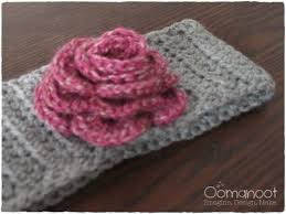 crochet band crochet winter hair band birthday present oomanoot