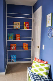 Diy Bookcase Door Lincoln U0027s Blue Orange And Lime Space Themed Nursery Project