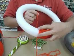 styrofoam wreath crankin out crafts ep15 yarn wrapped styrofoam wreath