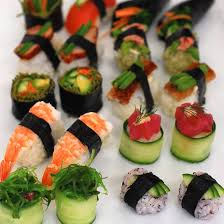 deluxe cuisine deluxe sushi catering finger food devour it catering