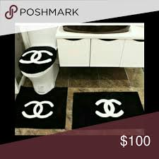 Posh Luxury Bath Rug Chanel Bathroom Rug Set 3 Pcs Like You See On Pictures Chanel