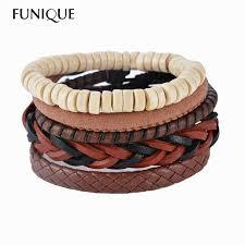 leather wrap bracelet men images 1set 3 4pcs leather bracelet men multilayer bead bracelet punk jpg