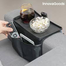 plateau de canapé organisateur de télécommandes avec plateau pour canapé innovagoods