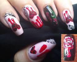 anti valentine u0027s nail art tutorial bleeding love and shattered