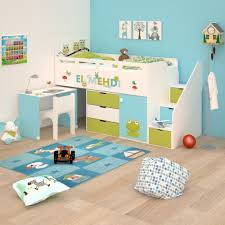 lit combiné bureau enfant lit combiné 3 avec rangement et bureau bambinos