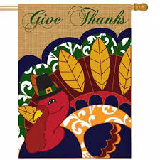 thanksgiving house flags give thanks house flag thanksgiving flags holidays