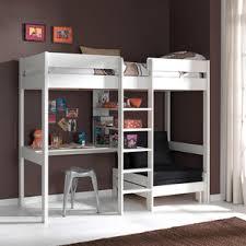 chambre en pin massif pas cher lit mezzanine en pin massif 90x200cm avec bureau couchage d