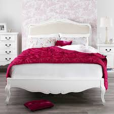 White King Single Bedroom Suite Juliette Shabby Chic White Upholstered Bed Stunning French 5ft