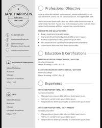 Stand Out Resume Templates Resume Resume Templates That Stand Out