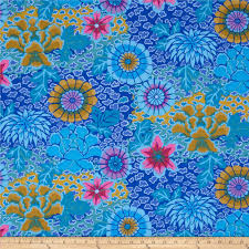 kaffe fassett collective dream blue from fabricdotcom designed by