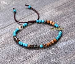 braided bead bracelet images Wholesale exclusive turquoise with jasper and pyrite cord braided jpg