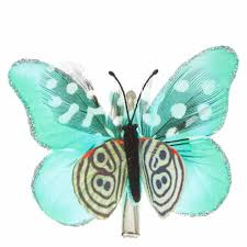 butterfly hair clip mint and feathers butterfly hair clip s us