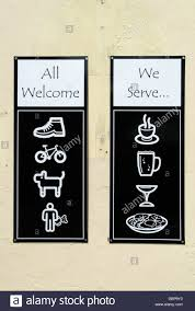 funny clever restaurant sign all welcome we serve homer sykes