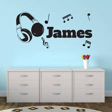 compare prices on music note sticker wall online shopping buy low personalised vinyl wall sticker headphones music notes art decal free shipping china mainland