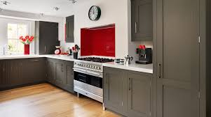 Dark Gray Kitchen Cabinets by Interesting Dark Grey Shaker Kitchen Cabinet Painted Also White