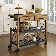 crosley butcher block top kitchen island crosley furniture kitchen islands carts shop pertaining to butcher