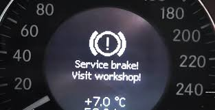 problem is solved error service brake visit workshop on the
