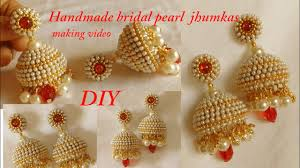 jhumka earrings diy how to make designer silk thread bridal jhumka earrings at