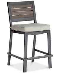 out door bar stools marlough ii aluminum outdoor bar stool with sunbrella cushion