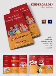 school brochure design templates 21 kindergarten brochure templates free psd eps ai indesign