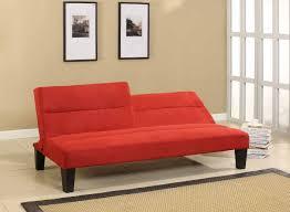 Klik Klak Sofa by Red Microfiber Klik Klak Sofa Futon Bed Sofa With Adjustable Back