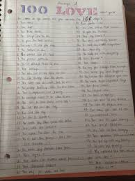 100 things i love about you