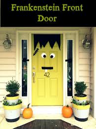 home made decoration pieces green front door design for halloween halloween inspiration
