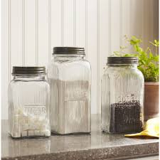 Large Kitchen Canisters Kitchen Canisters Jars Wayfair 3 Piece Sorrento Canister Lid Set