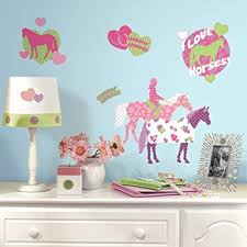 stickers cuisine enfant roommates stickers muraux repositionnables enfant chevaux amazon fr