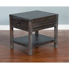 black and tan hamilton narrow wood top c table buy your end tables from rc willey for your den