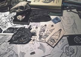 Albert Einsteins Desk Einstein Tattoo