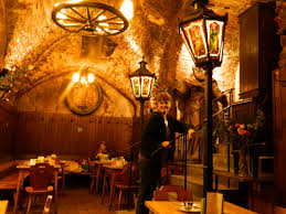 dining in a viennese cellar dating back to the 1100s