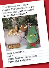 vomited on cookie bad cat funny humorous christmas card by