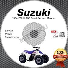 1984 2001 suzuki lt50 quad service manual cd rom repair shop 1985