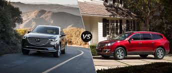 mazda cx 9 2016 mazda cx 9 vs 2016 chevy traverse