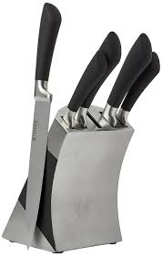 sabatier maison kitchen knife set with stainless steel block 5