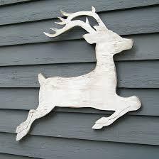 Outdoor Christmas Decorations Wooden Deer