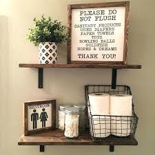 Bathroom Open Shelving His And Hers Bedroom Signs Open Shelves Farmhouse Decor Fixer