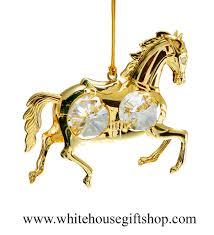 ornament gold carousel ornament swarovskiâ crystals