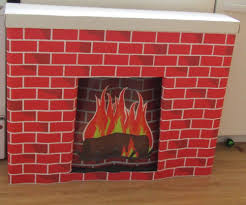 christmas fireplace ebay