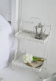 Shabby Chic White Bedroom Furniture by White Bedside Cabinet With Cupboard And Drawer From The New