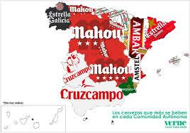 map of spain habits the map of spain in el país
