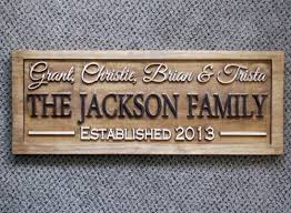 wedding gift signs personalized family last name signs custom wedding gift carved